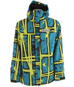 Grenade Doom Stripes Snowboard Jacket Slime
