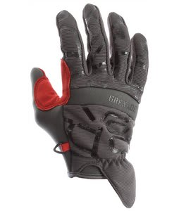 Grenade Draw Gloves Gun Metal/Red