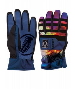 Grenade Fragment Gloves Blue