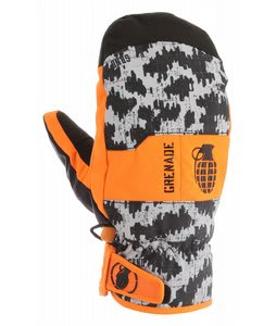 Grenade Fragment Mittens Orange