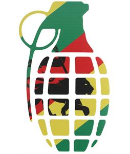 Grenade Gnarley Sticker Flag 8.5in