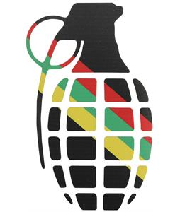 Grenade Gnarley Sticker Rasta Stripes 8.5in