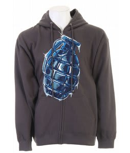 Grenade Iced Zip Hoodie Gray