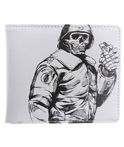 Grenade Leather Wallet White