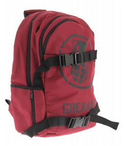 Grenade Logo Backpack Burgundy