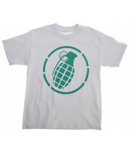 Grenade Logo Stenz T-Shirt Gray