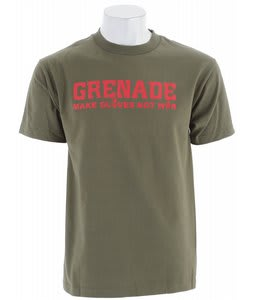 Grenade Make Snowboard Gloves T-Shirt Army