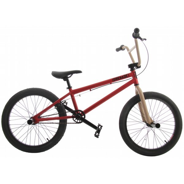 Grenade MX BMX Bike 20 inch Electric Red/Tan 2012
