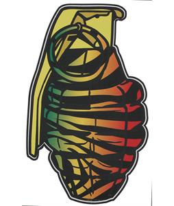 Grenade Patterns Sticker Rasta Tiger 8.5in