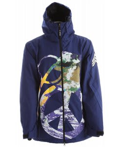 Grenade Peace Bomb Snowboard Jacket Blue/Multi