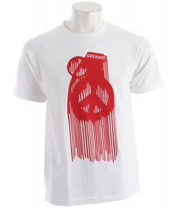 Grenade Peace Drip T-Shirt White