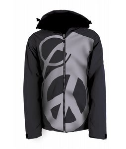 Grenade Peace Bomb Snowboard Jacket Black/Grey