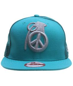 Grenade Peace Bomb Mesh Cap Teal