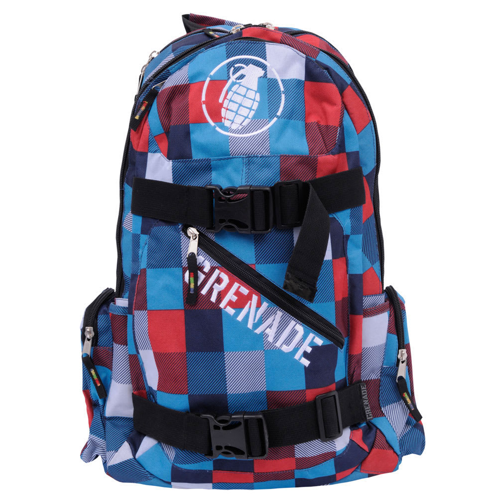 Grenade Plaid Backpack Blue