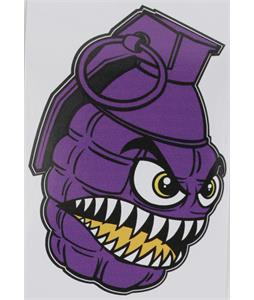 Grenade Printed Chomper Stickers Purple 4in