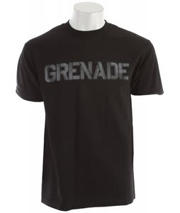 Grenade Riot Word T-Shirt Black