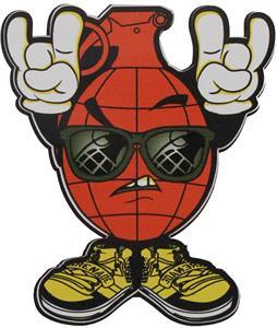 Grenade Rock Sticker Orange 4in