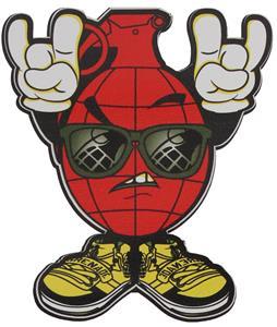 Grenade Rock Sticker Red 4in