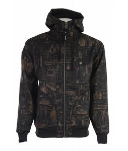 Grenade Schematic Softshell Zip Hoodie Brown