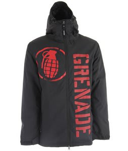Grenade Shrapnel Snowboard Jacket Black
