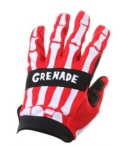 Grenade Skeleshred BMX Gloves Red
