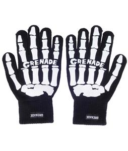 Grenade Skeleton Gloves White
