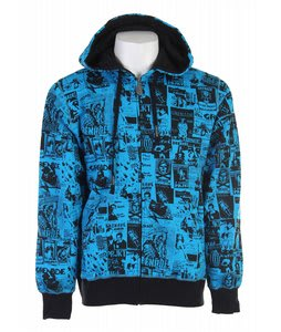 Grenade Skelter Zip Hoodie Bright Blue