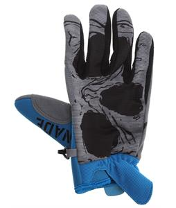 Grenade Skull Gloves Blue