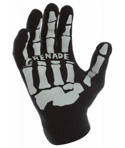 Grenade Skull Knit Gloves Gray