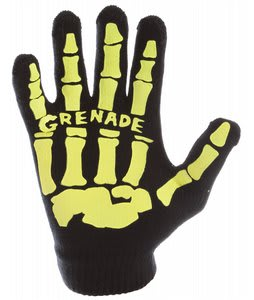 Grenade Skull Knit Gloves Slime