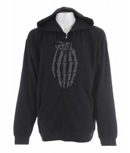 Grenade Skull Bomb Zip Hoodie Black/Grey