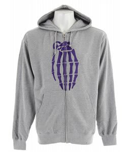 Grenade Skull Bomb Zip Hoodie Grey/Purple