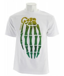 Grenade Skull Bomb T-Shirt White/Teal/Lime