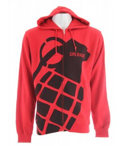 Grenade Stamp Zip Hoodie Red/Black