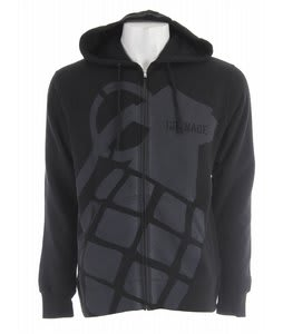 Grenade Stamp Zip Hoodie Grey