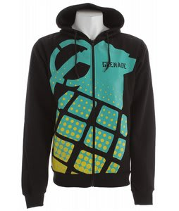 Grenade Stamp Hoodie Black/Fade