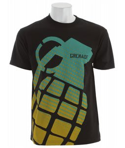 Grenade Stamp T-Shirt Black/Teal/Lime
