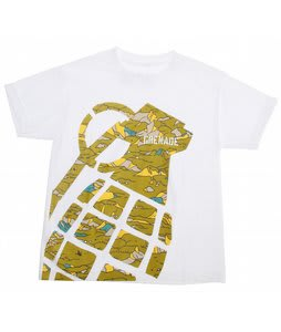Grenade Stamp T-Shirt White/Camo