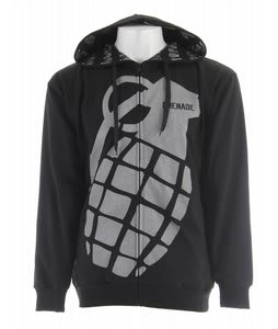 Grenade Stamped Zip Hoodie Silver