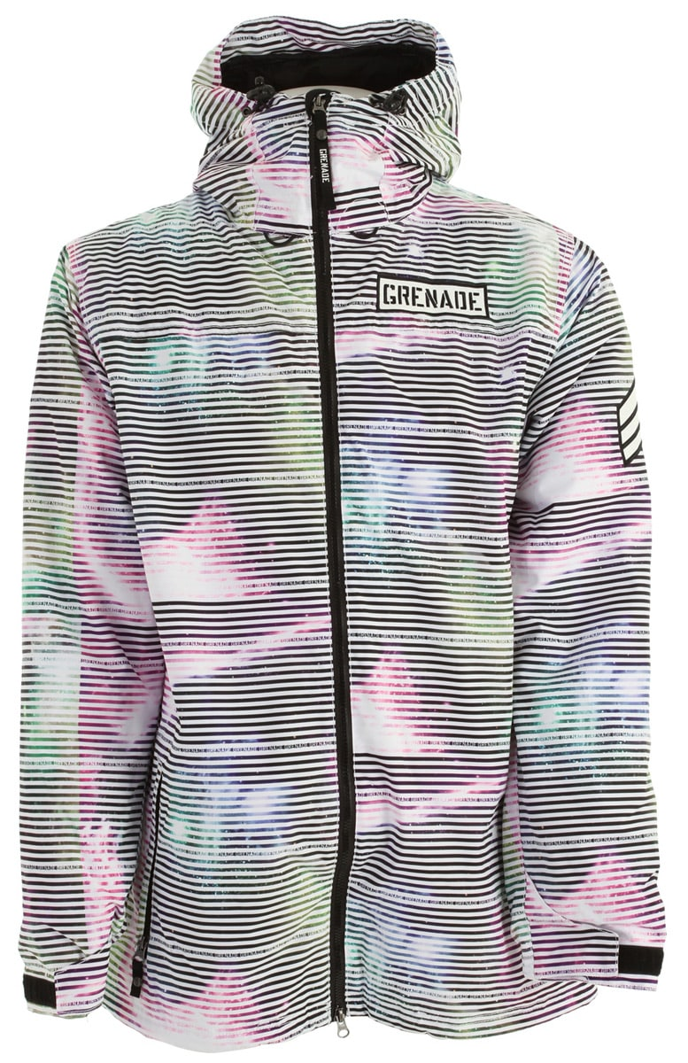 Shop for Grenade Static Snowboard Jacket White - Men's