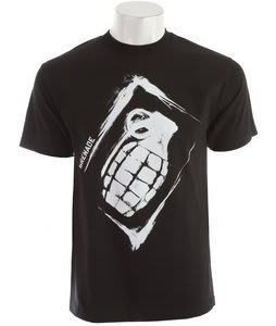 Grenade Sullen Stencil T-Shirt Black