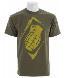 Grenade Sullen Stencil T-Shirt Army/Yellow
