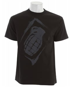 Grenade Sullen Stencil T-Shirt Black/Grey