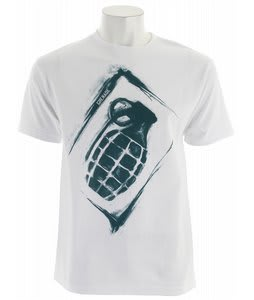 Grenade Sullen Stencil T-Shirt White/Blue