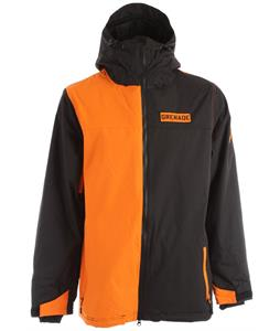 Grenade Tracker Snowboard Jacket Black Orange