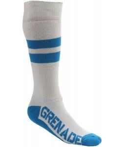 Grenade Tube Socks White/Blue