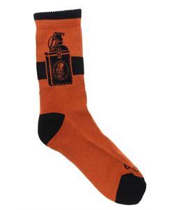 Grenade Tucked Socks Orange