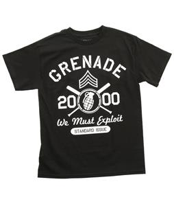 Grenade Varsity T-Shirt Black