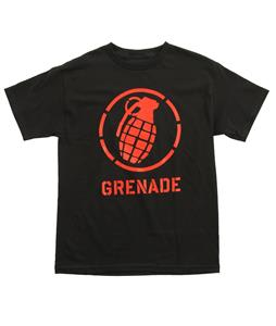 Grenade Wordmark Stenz T-Shirt Black