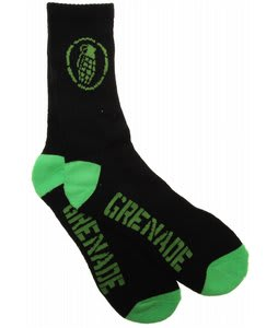 Grenade Wrecker Socks Black/Green